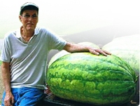 Lloyd Bright with Giant Watermelon